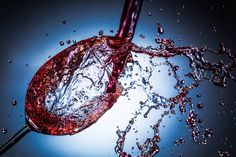 Pouring wine splash