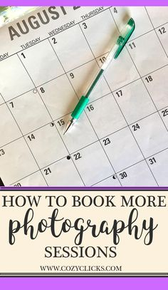 If you've just started a new photography business, you probably want o start booking sessions! Read here to find out 21 things you can do to start building your photography business and booking more sessions!