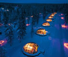 Such a unique concept.. Hotel & Igloo Village in the Arctic Circle
