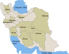 map of iran with cities - Google Search