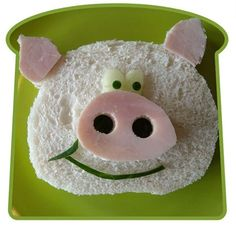 Fun with food! Pig Sandwich