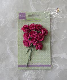 10+Paper+Flowers+-+Carnations,+medium+pink+RB2259+von+Zeit+für+Kreatives+auf+DaWanda.com