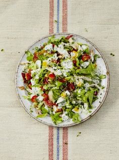 Cobb Salad - With roast chicken, crispy pancetta, boiled eggs and a rich blue cheese dressing, this chopped salad recipe is classic American comfort food – and so tasty!