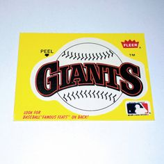 Check out this item in my Etsy shop https://www.etsy.com/listing/494538426/vintage-san-francisco-giants-1986-fleer
