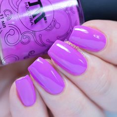 Hello my lovelies. In today's post I would like to show you more of the beautiful Masura nail polish. Orchid Nails, Purple Nails, Wedding Acrylic Nails, Cute Acrylic Nails, Shellac Gel Polish, Nail Polishes, Glow Nails, Wild Orchid, Colorful Nail Designs