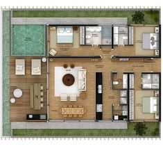 Ideas bedroom design layout floor plans master suite for 2019 Layouts Casa, House Layouts, Home Design Floor Plans, House Floor Plans, Modern House Plans, Small House Plans, Layout Design, Small Villa, String Lights In The Bedroom