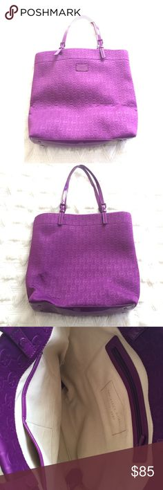 Authentic Michael kors purple tote It is brand new never been used and super spacious. Will perfect as a work or school tote Michael Kors Bags Totes