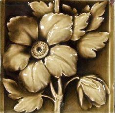 Victorian Majolica Glazed Tile