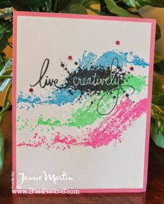 Stamp This- #Stampendous stamps and Imagine Craft inks make a great combination!