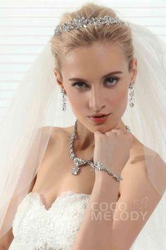 Unique Graceful Wedding Tiara With Rhinestones #Ajtb0294 #cocomelody #headpiece