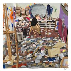Painting of Francis Bacon in His Studio