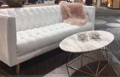 Emma Sofa comes in white and grey by Style in Form