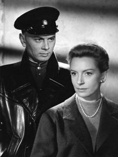 "Yul Brynner as Maj. Surov and Deborah Kerr as Diana Ashmore in the 1959 movie ""The Journey"""