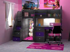 Photos for Kids & Teens World - Yelp Kids Bedroom Designs, Cute Bedroom Ideas, Room Design Bedroom, Room Ideas Bedroom, Awesome Bedrooms, Cool Rooms, Bed For Girls Room, Girl Room, Girls Bunk Beds
