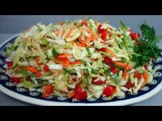 Surówka z kapusty - YouTube Coleslaw, Salad Recipes, Cabbage, Grilling, Food And Drink, The Creator, Meat, Chicken, Vegetables