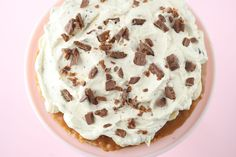 Banan og Toffee Pai glutenfri - Passion For baking Banoffee Pie, Sweet Condensed Milk, Pie Tops, Sliced Almonds, Christmas Baking, Let Them Eat Cake, Toffee, Fudge, Pai
