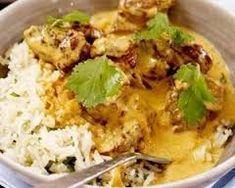 Mild lamb curry with coriander rice: Recipes: Good Food Channel Lamb Recipes, Spicy Recipes, Indian Food Recipes, Asian Recipes, Crockpot Recipes, Cooking Recipes, Healthy Recipes, Ethnic Recipes, Savoury Recipes