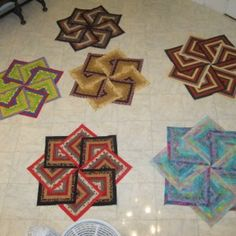 Strata Star Quilt.   Tutorial - It comes as a kit and can be sewn together quickly because its all straight seams. No binding either. Once it is sewn then you can choose how you will quilt it.