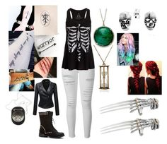 """""""Raya"""" by rmb011400 on Polyvore featuring Frame Denim, Emi Jewellery and Bling Jewelry"""