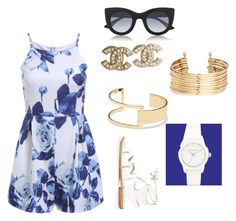 """Navy, Navy."" by trendyari ❤ liked on Polyvore"