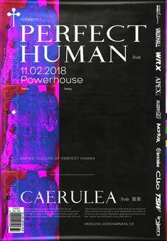 "vladislavsontos: ""Perfect Human w/ Caerulea Poster 2018 by Vladislav Sontos "" Graphic Design Books, Book Design, Cover Design, Graphic Art, Typography Layout, Typography Poster, Print Layout, Layout Design, Communication Design"