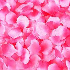 Silk Flower Petal Fuchsia ( 400 Petals )