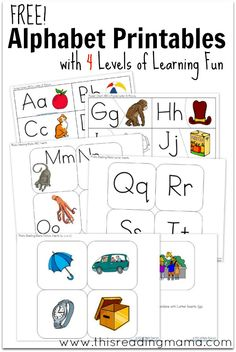 FREE Alphabet Printables with FOUR Levels of Learning ~ Learning Letters and their Sounds  | This Reading Mama