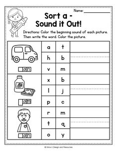 This set of CVC printable worksheets, activities and games includes some fun reading, writing, tracing, coloring, and finding CVC words and word families. Your kindergarten and preschool students will practice reading and write with over 30 word familes to choose from. Perfect phonics activity for morning work, literacy tubs, homework and more. #cvc #cvcwords #wordfamilies #cvcwordactivities Word Family Activities, 1st Grade Activities, Teaching Activities, Learning Phonics, Printable Preschool Worksheets, Kindergarten Worksheets, Number Words Worksheets, Teacher Resources, Teacher Tools