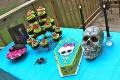 Monster High Birthday Desserts. Maybe Pink, Blue and Black instead.