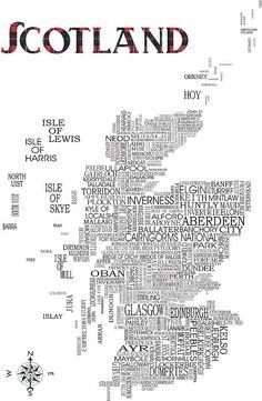 Scotland Map Print