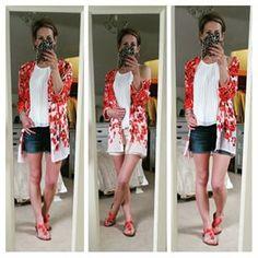 #iWear | iClothing Denim Cutoffs, My Outfit, Kimono, Shorts, My Love, Instagram Posts, Jackets, Tops, Down Jackets