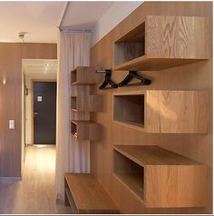 wall-mounted closet concept by Finnish furniture design group, NollaNolla