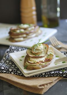 Goat cheese and chive potato stacks! YUM!
