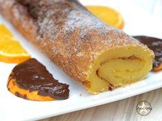 Lekker sinaasappeltaart / Torta de Laranja Humida Portugal, French Toast, Bakery, Pudding, Breakfast, Desserts, Food, Orange, Fine Dining