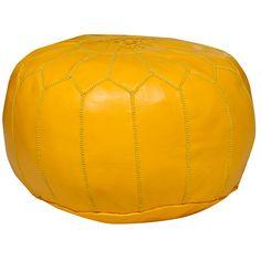 Yellow+Moroccan+Pouf