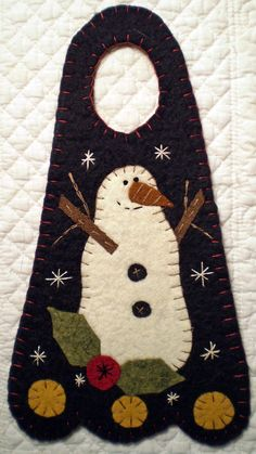 Oley Valley Primitives  SMILING SNOWMAN  Penny by santaladyofoley