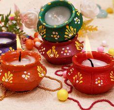 ARVANA Kieana Vibrant Candles for Decoration (Standard, Multicolour) Kalash Decoration, Diwali Decoration Items, Mehendi Decor Ideas, Thali Decoration Ideas, Diwali Decorations At Home, Mehndi Decor, Home Wedding Decorations, Festival Decorations, Diwali Diy