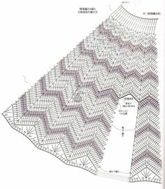 Lovely Ripple Skirt chart. This is why I love charts! I can't read Japanese, but crochet symbols are pretty universal.  披风 - 夏天 - 夏天的博客