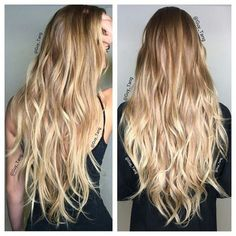 Beautiful beachy waves and beachy blonde hair Beachy Blonde Hair, Golden Blonde Hair, Honey Blonde Hair, Blonde Balayage Honey, Beach Blonde, Brown Balayage, Ombre Hair Extensions, Guy Tang, Hair Highlights