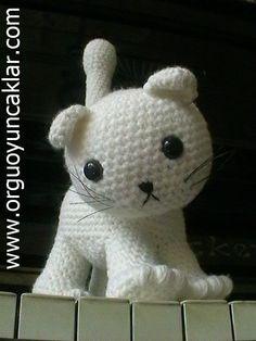free cat crochet patterns | Amigurumi Cat Pattern by Denizmum on Etsy