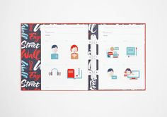 Wall Street English Brand Guidelines by Luca Fontana, via Behance