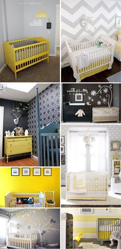 Love the combo of grey and yellow and work so well for our new nursery since the walls are already light grey