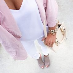 Averie Nicole Blog | White X White with a Pop of Pink | www.averienicole.com