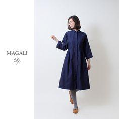 MAGALI冬のアイテム  #MAGALI #コート #ワンピース #アウター #コットン100 #ネイビー #ナチュラルファッション #レディースファッション #ナチュラル #ナチュラル系 #セレクトショップ