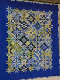 This storm at sea quilt was made by Breege Watson from Ireland. 2014 Festival of Quilts (UK), photo by Kameleon Quilt