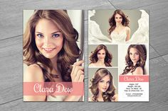 Modeling Comp Card Template-V247 by Template Shop on @creativework247