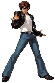 King Of Fighters XII KOF Game Character Official Artwork Render Kyo Kusanagi