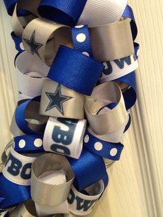 Dallas Cowboys Football Wreath Cyber Sale Gifts for him image 2 Dallas Cowboys Wreath, Football Wreath, Dallas Cowboys Football, Glitter Ribbon, White Ribbon, Star Logo, Cyber, Gifts For Him, Wedding Gifts