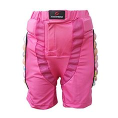 WWHM Children Outdoor Sports Hip Pad Roller Skating Ski Shorts HJ001 Pink S >>> Continue to the product at the image link.