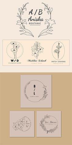 floral logo | botanical logo | hand drawn botanical logo | floral illustration | botanical illustration | floral logo template | botanic art Graphic Design Branding, Logo Design, Botanical Illustration Black And White, Find Logo, Floral Logo, Floral Illustrations, Business Logo, Logo Templates, Creative Design